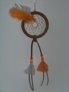 Orange and White Custom Dreamcatcher