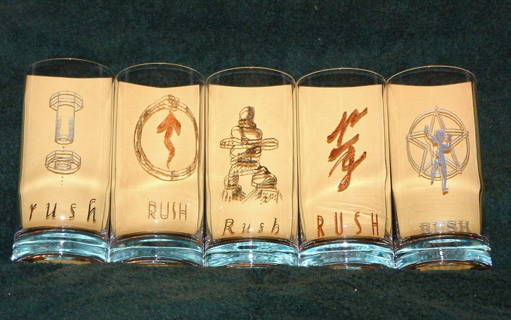 Crystal Glasses For Friends: Rush